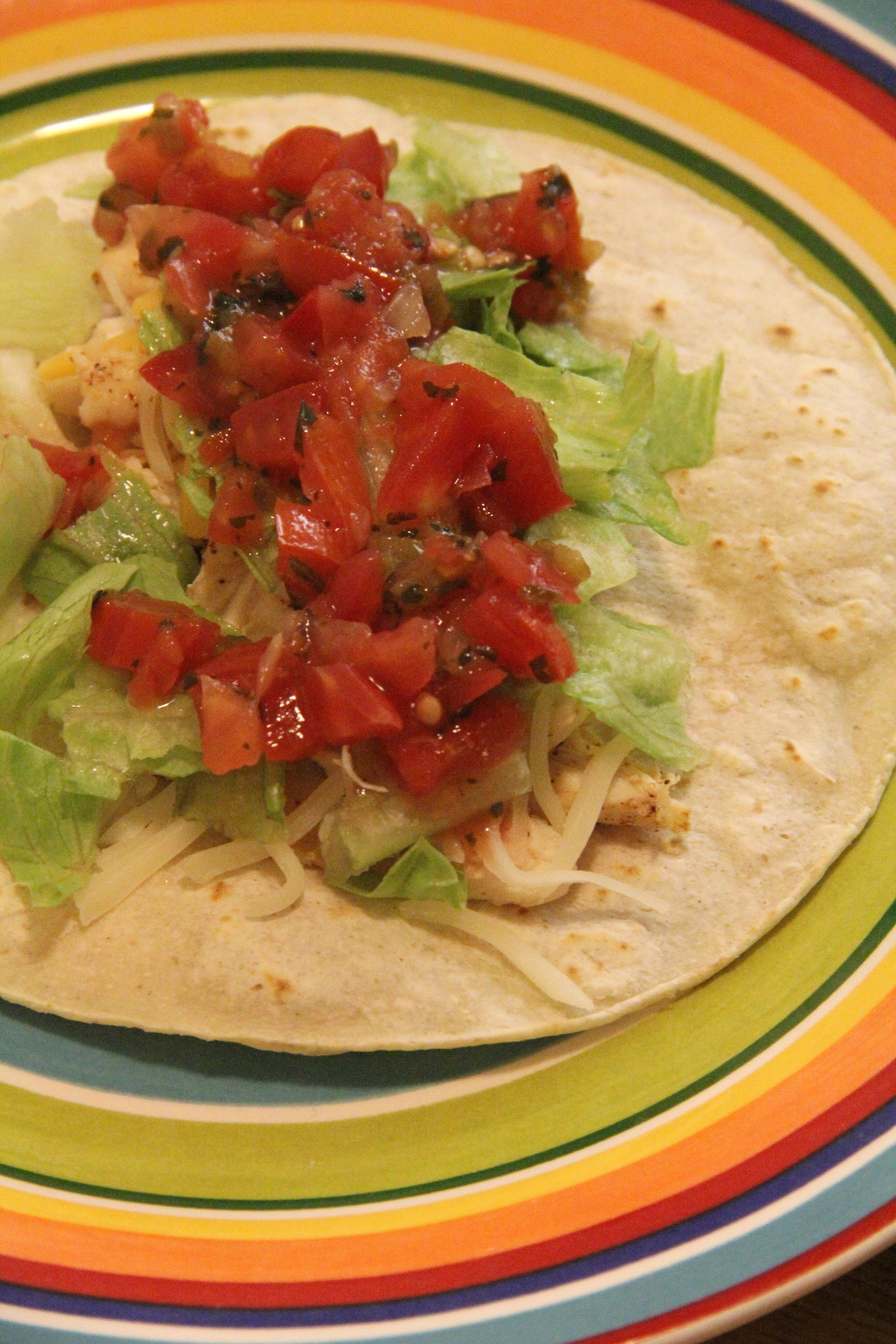 Chili Chicken Soft Tacos