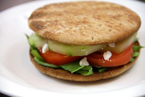 vegetarian Greek sandwiches