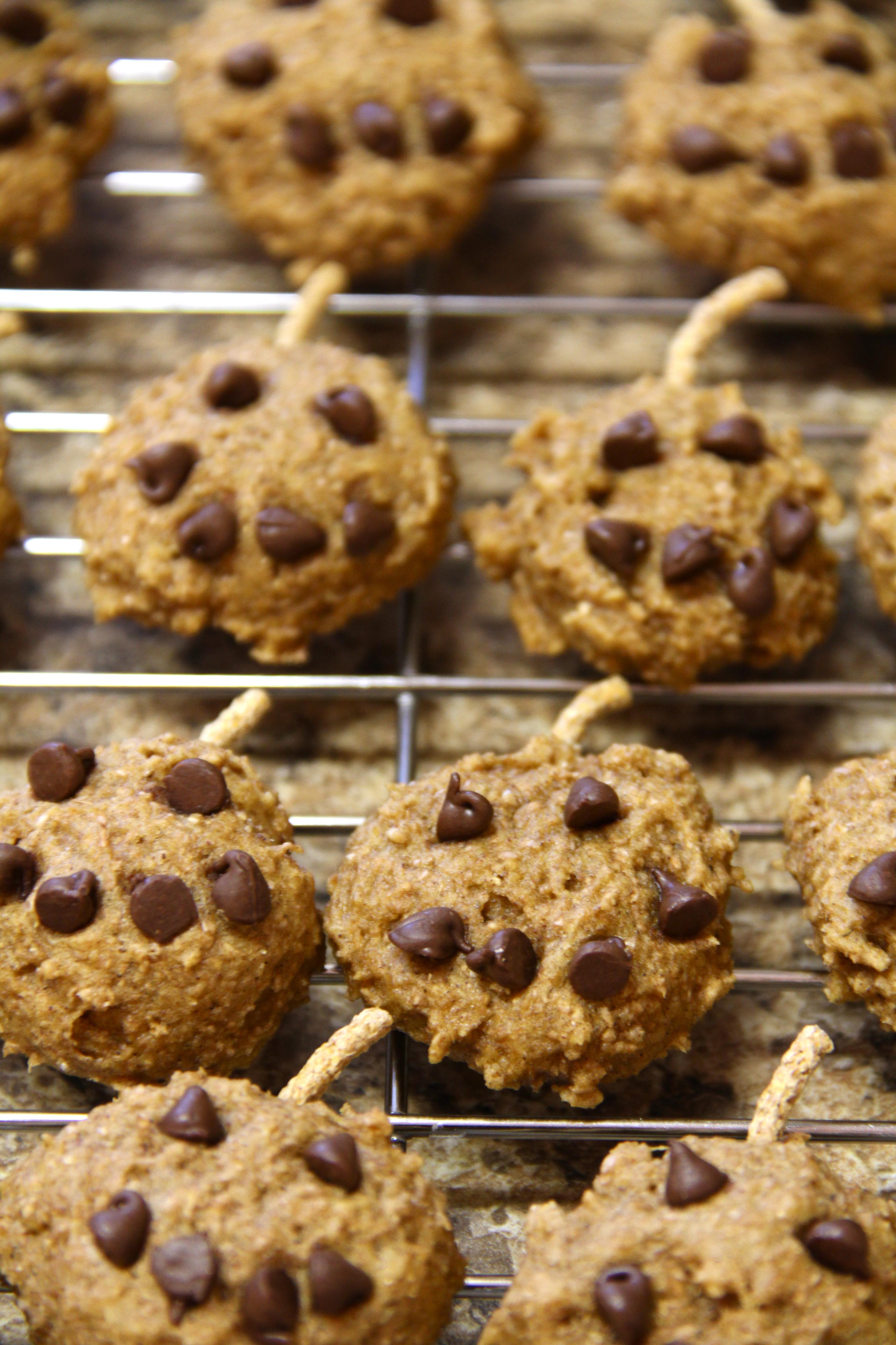 pumpkin jack-o-lantern cookies