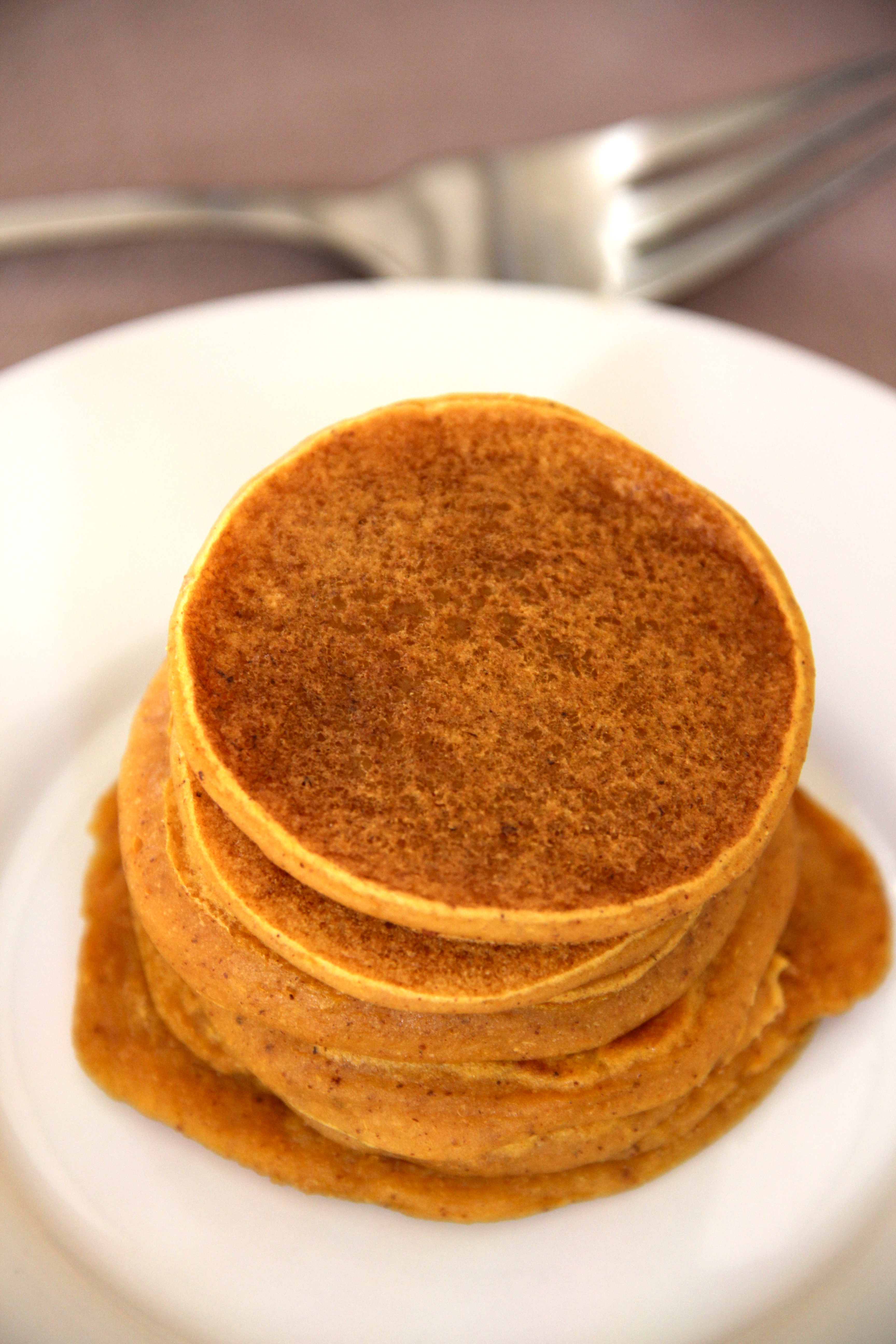 Pumpkin Pie Pancakes | Amy's Healthy Baking