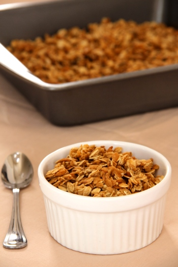 simple lightened granola