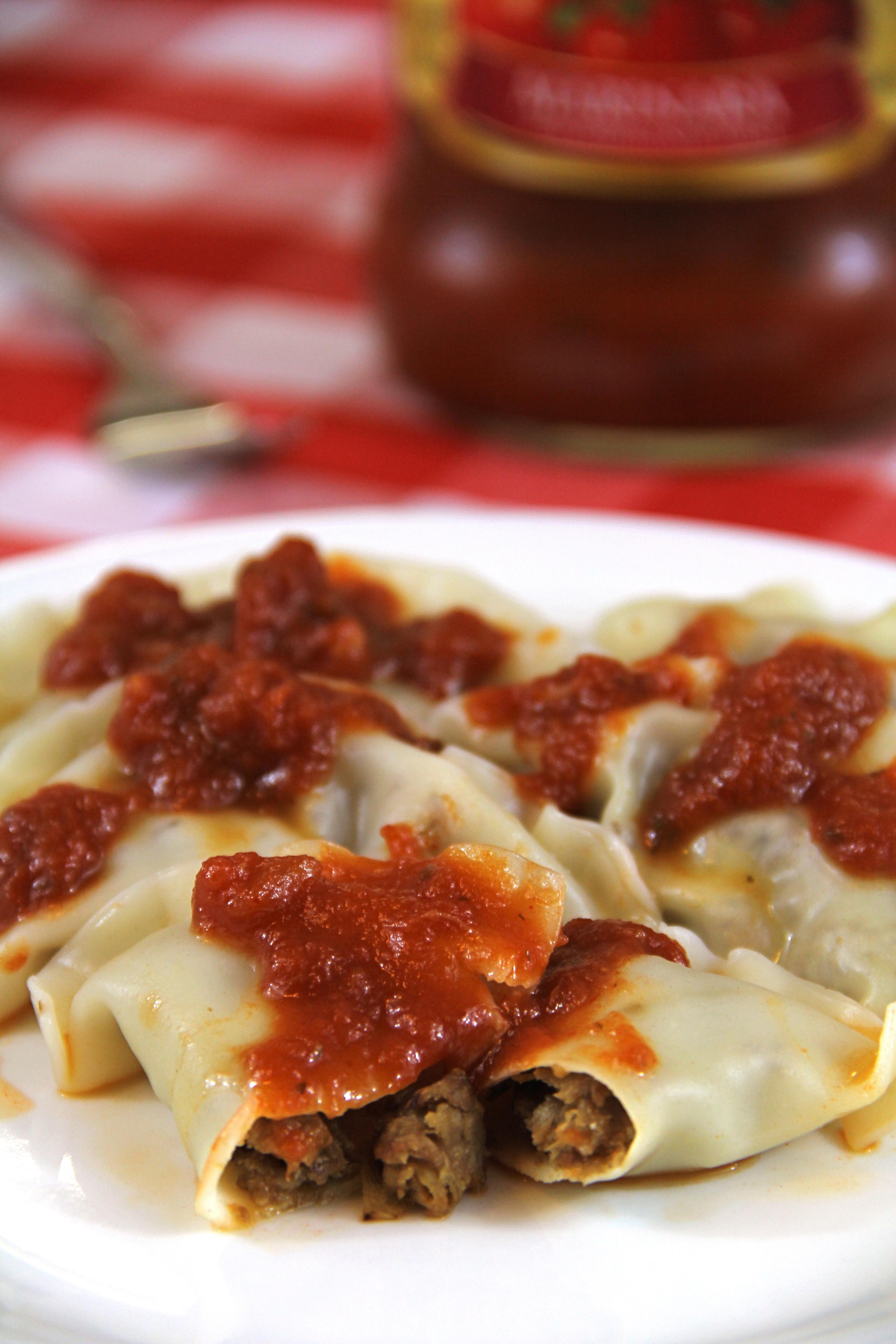 meaty vegetarian ravioli