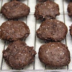 salted balsamic chocolate cookies