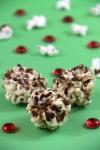peanut butter and nutella popcorn balls