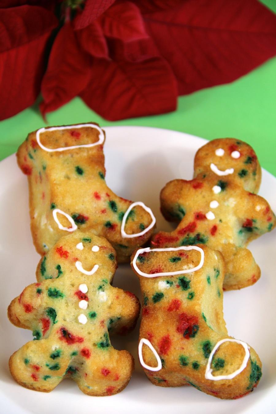 funfetti Christmas cupcakes