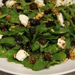 salad with cream cheese and figs