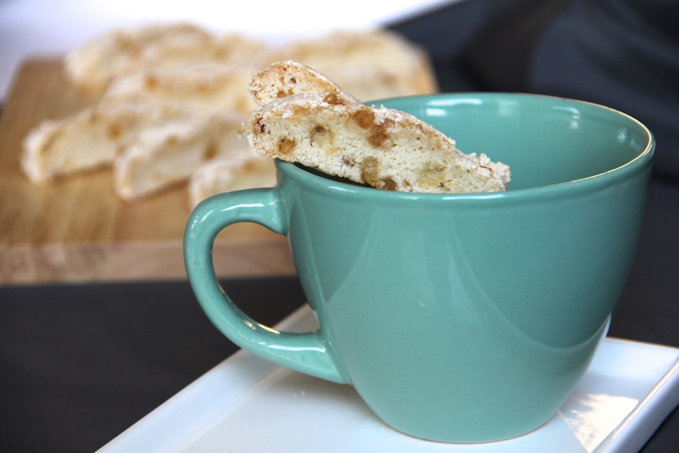 double ginger biscotti