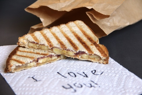 peanut butter, banana, and jelly panini (PBB&J)