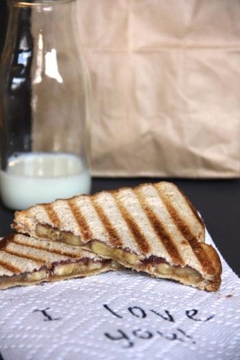 peanut butter, banana, and jelly panini (PBB&J)