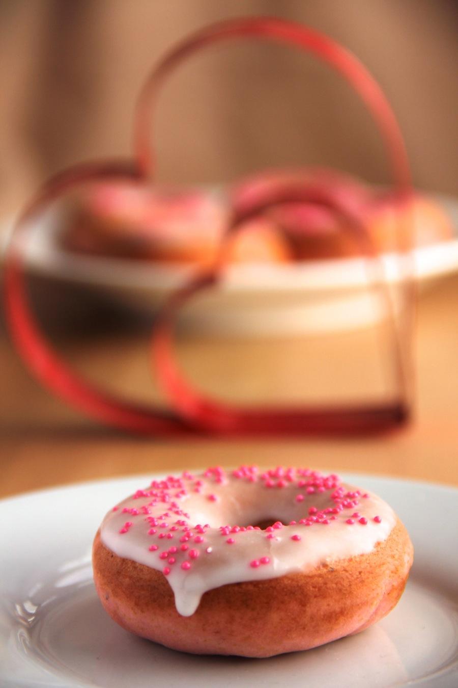 pretty pink donuts