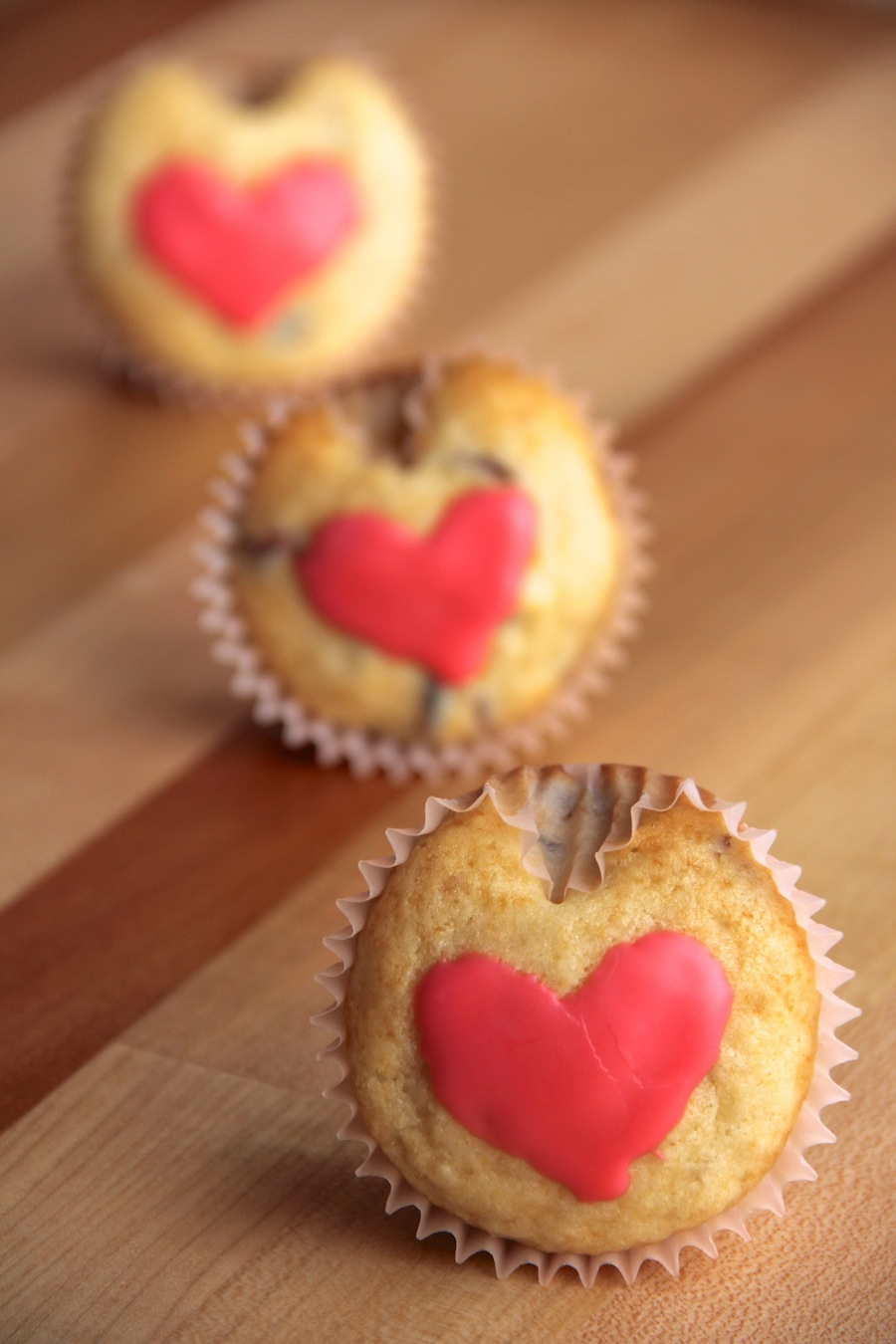 Heart-Shaped Cranberry Muffins