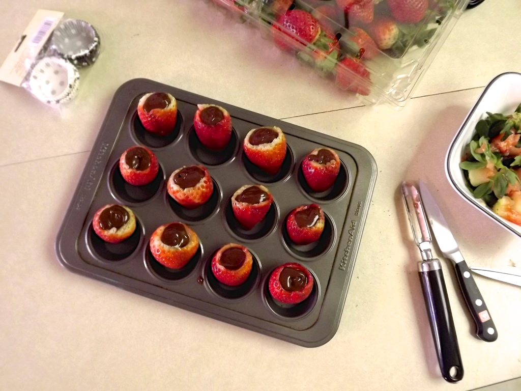 truffle-stuffed chocolate covered strawberries
